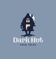 modern professional logo emblem dark hut folk vector image vector image