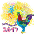 new year of the rooster vector image