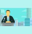 news release tv presenter political news man vector image vector image