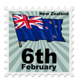 post stamp of national day of New Zealand vector image