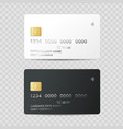 realistic detailed 3d plastic credit card template vector image vector image