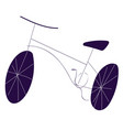 rough drawing of bicycle color on white background vector image