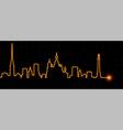 saint petersburg light streak skyline vector image