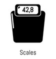 scales icon simple black style vector image vector image