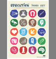School and education web icons set drawn by chalk vector image vector image