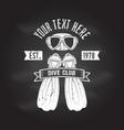 scuba turtle dive club vector image vector image