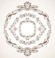 set of circle vintage frames vector image vector image