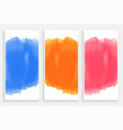 set of colorful watercolor banners vector image vector image