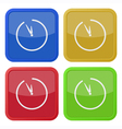 set of four square icons with clock vector image vector image