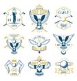 Set of Golf Logo Labels and Emblems vector image vector image