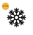 snowflake icon isolated flat style vector image vector image