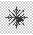 Spider on web Dark gray icon on vector image vector image