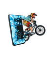 sports online news concept athlete cyclist vector image