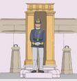 stockholm royal guardsman vector image vector image