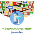 summer time banner for cocktail bar vector image