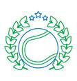 tennis ball emblem image vector image vector image