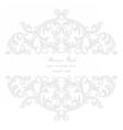 Vintage Baroque Rococo ornament card vector image vector image
