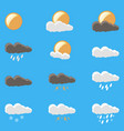 weather icons set wind symbol moon sunny vector image