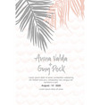 wedding invitation with palm leaves vector image