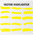 yellow highlighter marker strokes vector image vector image