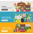 Casino Banners Set vector image