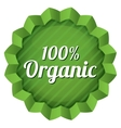 Organic food label tag Ecological green sticker vector image
