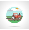 Tractor detailed flat color icon vector image