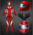auto race driver protective suit realistic vector image vector image
