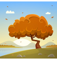 Autumn Countryside Cartoon Landscape vector image