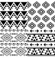 aztec pattern set tribal background vector image