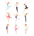 ballet boys and girls dancers male vector image
