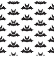 Bat Halloween Seamless Pattern vector image