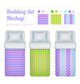 bed linen patterns collection vector image vector image
