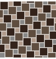 brown tiles seamless pattern vector image vector image