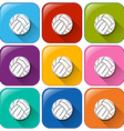 Buttons with balls vector image