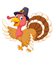 Cartoon turkey waving isolated on white background vector image vector image