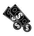 cash money bill vector image vector image