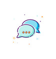 chat icon in trendy style - thin line flat design vector image vector image
