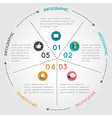 circular chart infographic pie chart vector image