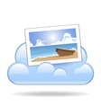 Cloud photo vector image vector image