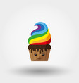 cupcake kawaii icon flat vector image