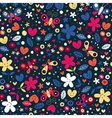 cute butterflies hearts and flowers pattern 2 vector image vector image