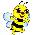 Cute Funny Bee Cartoon vector image