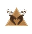 deer emblem icon image vector image vector image