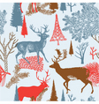 deer in a forest background vector image vector image