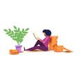 design concept freelance job a woman vector image vector image