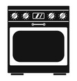 domestic gas oven icon simple style vector image vector image