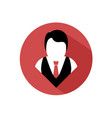 elegant man icon vector image