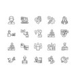 engineering management line icons signs vector image vector image