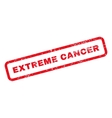 Extreme Cancer Text Rubber Stamp vector image vector image